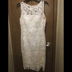 White/ivory lace dress